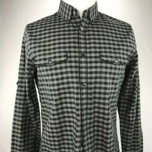 Express fitted plaid button down